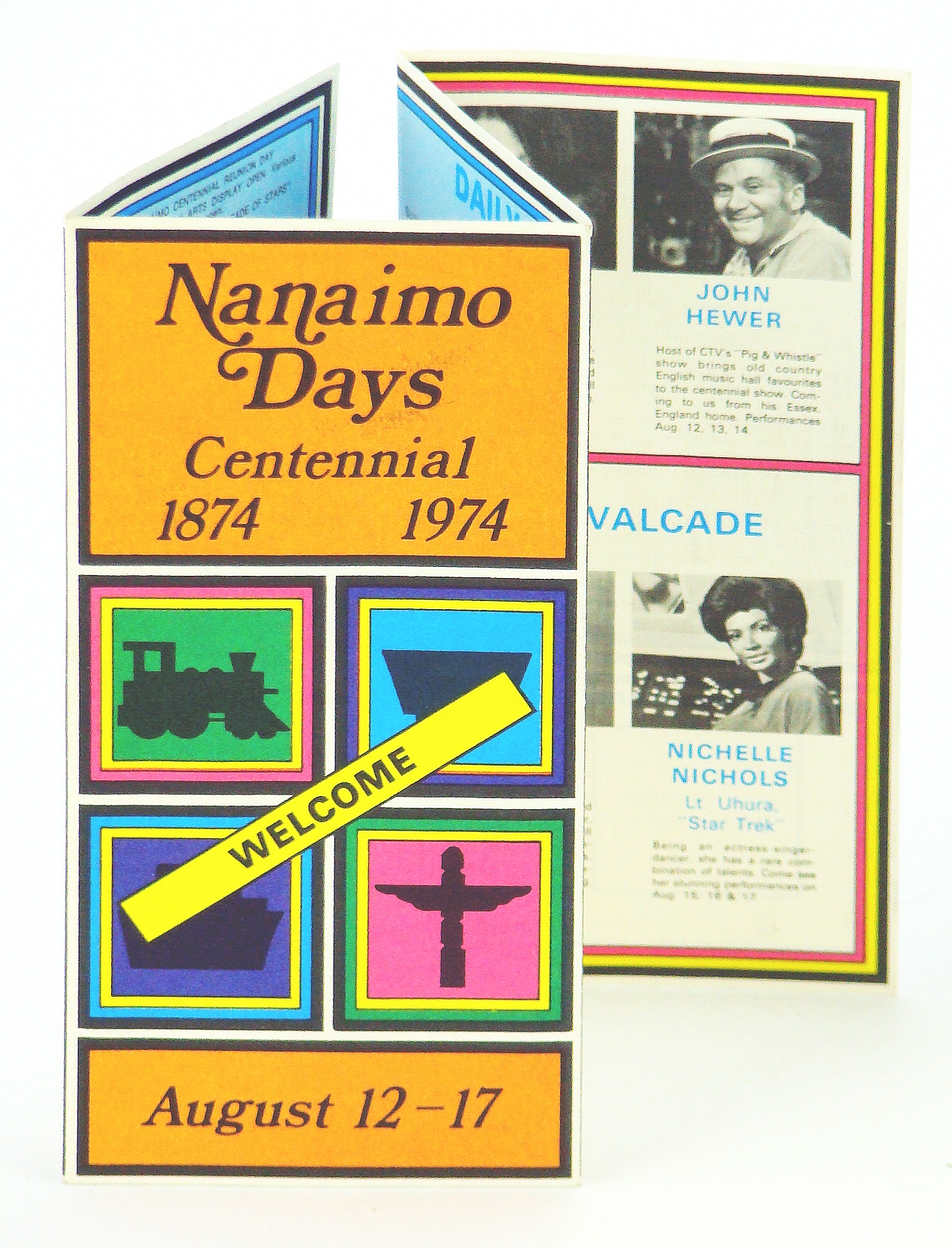 Image for Nanaimo Days Centennial 1874-1974, August 12-17, 1974 - Entertainment Schedule
