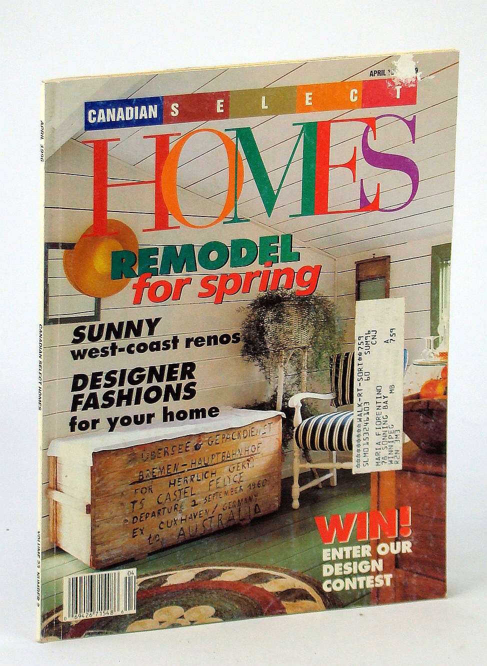 Image for Canadian Select Homes Magazine, April [Apr.] 1996, Vol. 23, No. 2 - Sunny West-Coast Renos