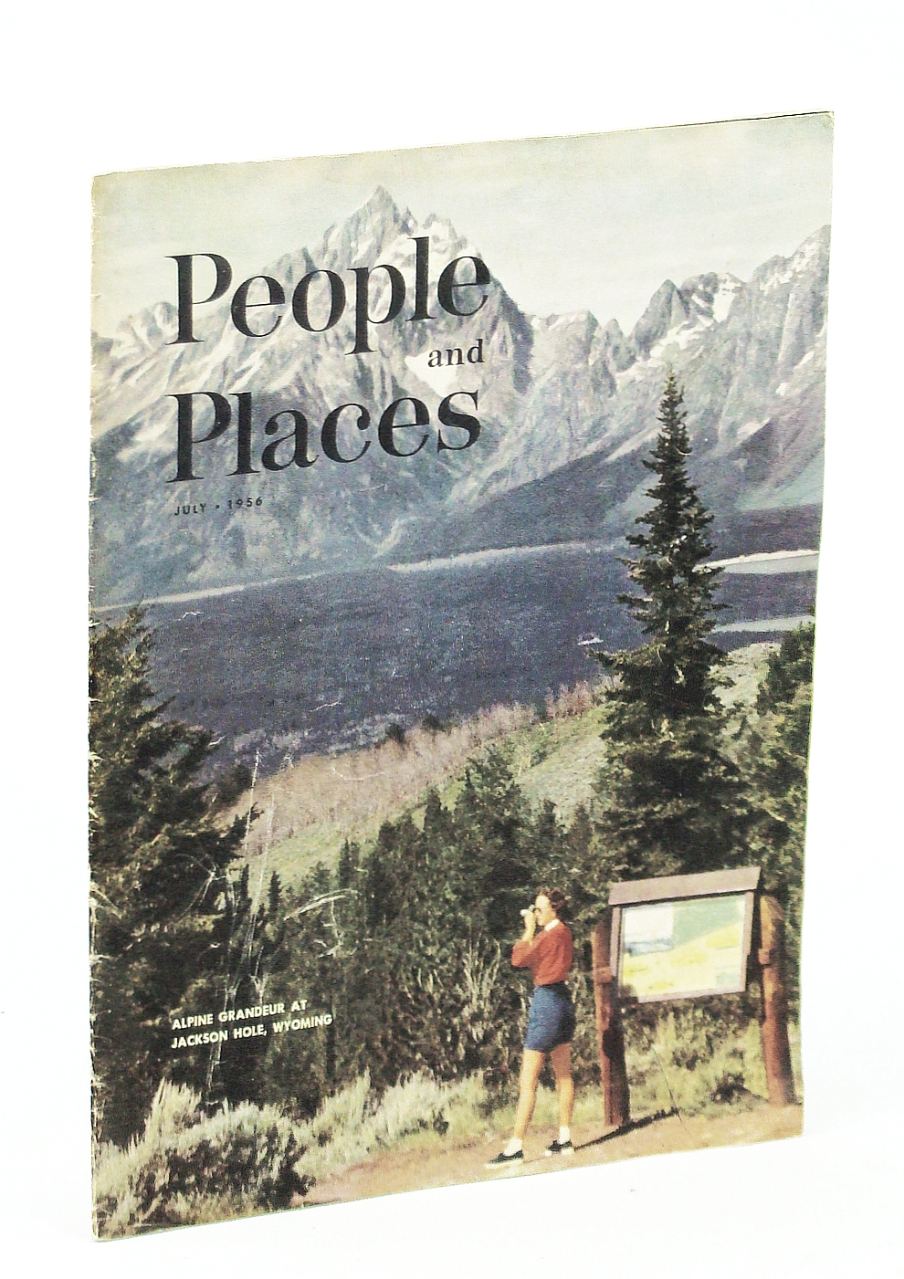 Image for People and Places Magazine, July, 1956, Volume 13, Number 5 - Jackson Hole Cover Photo