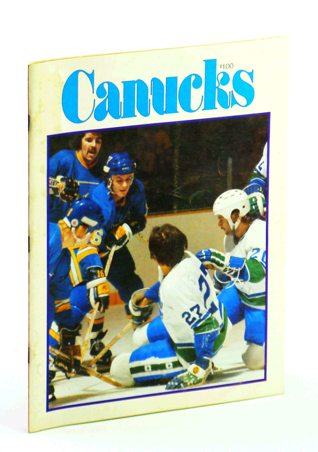 Image for Canucks - Vancouver Canuck Magazine, February 21, 1977, Vol. 7, No. 32 - St. Louis Blue in Town