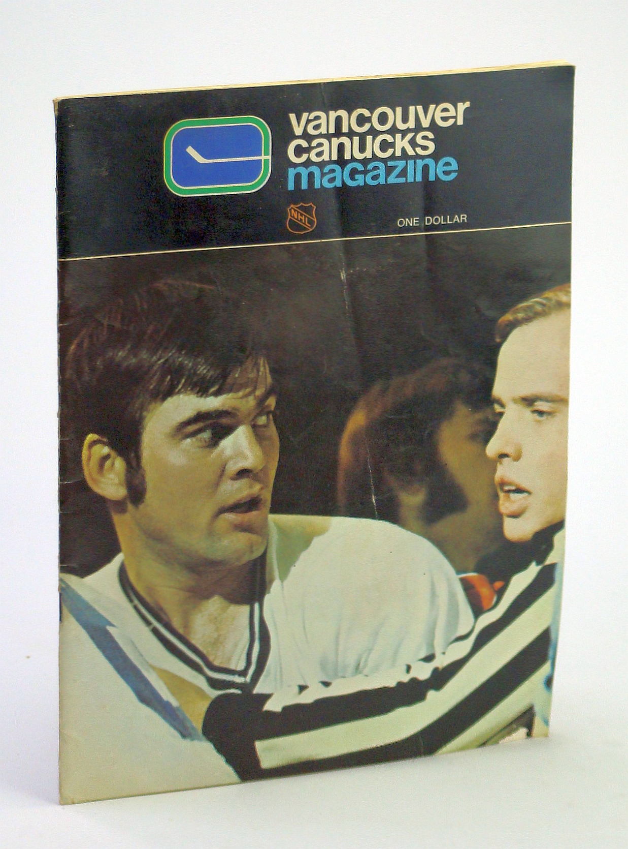 Image for Canucks - Vancouver Canuck Magazine, January 22, 1972, Vol. 2, No. 26 - Cover Photo of Rosaire Paiement in Fight Mode