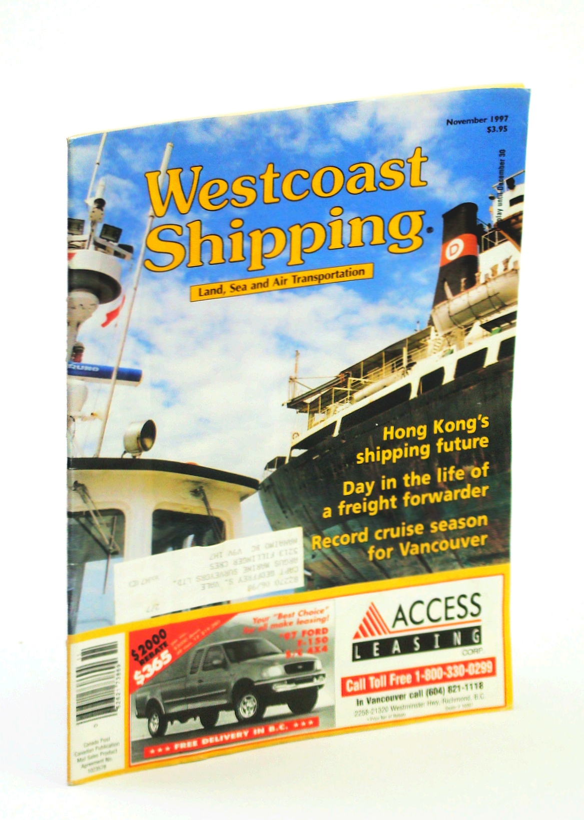 Image for Westcoast Shipping [Magazine] - Your Connection to Land, Sea, Air in the Pacific Rim, November 1997
