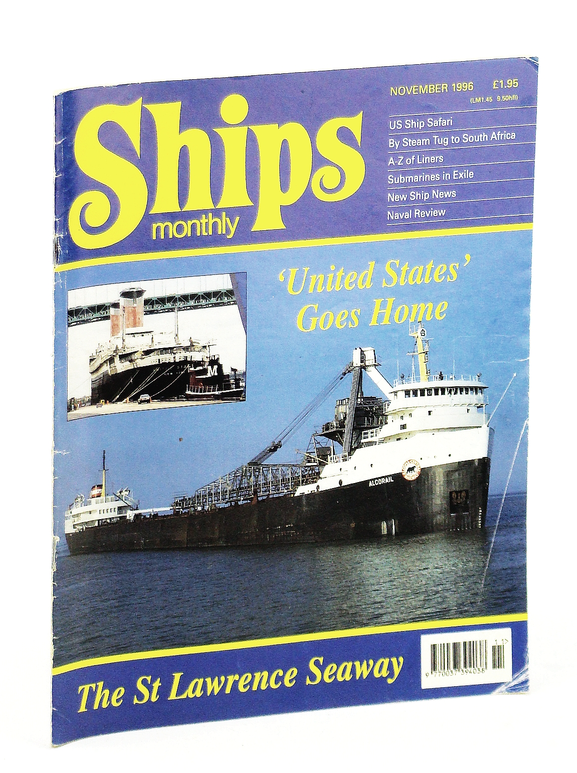 Image for Ships Monthly - The International Magazine for Shiplovers Ashore and Afloat: November 1996