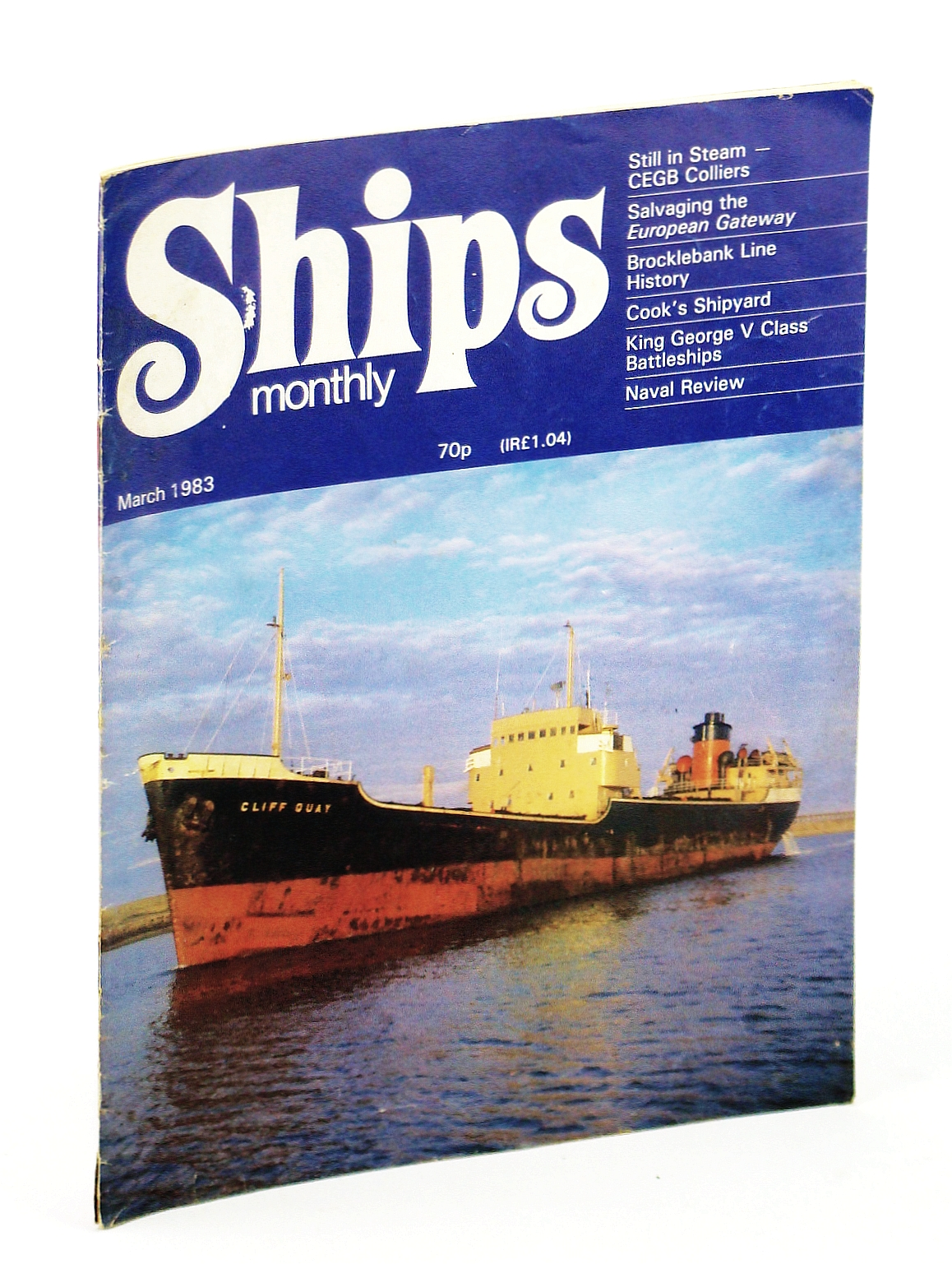 Image for Ships Monthly - The Magazine for Shiplovers Ashore and Afloat, March 1983 - Salvaging the Èuropean Gateway