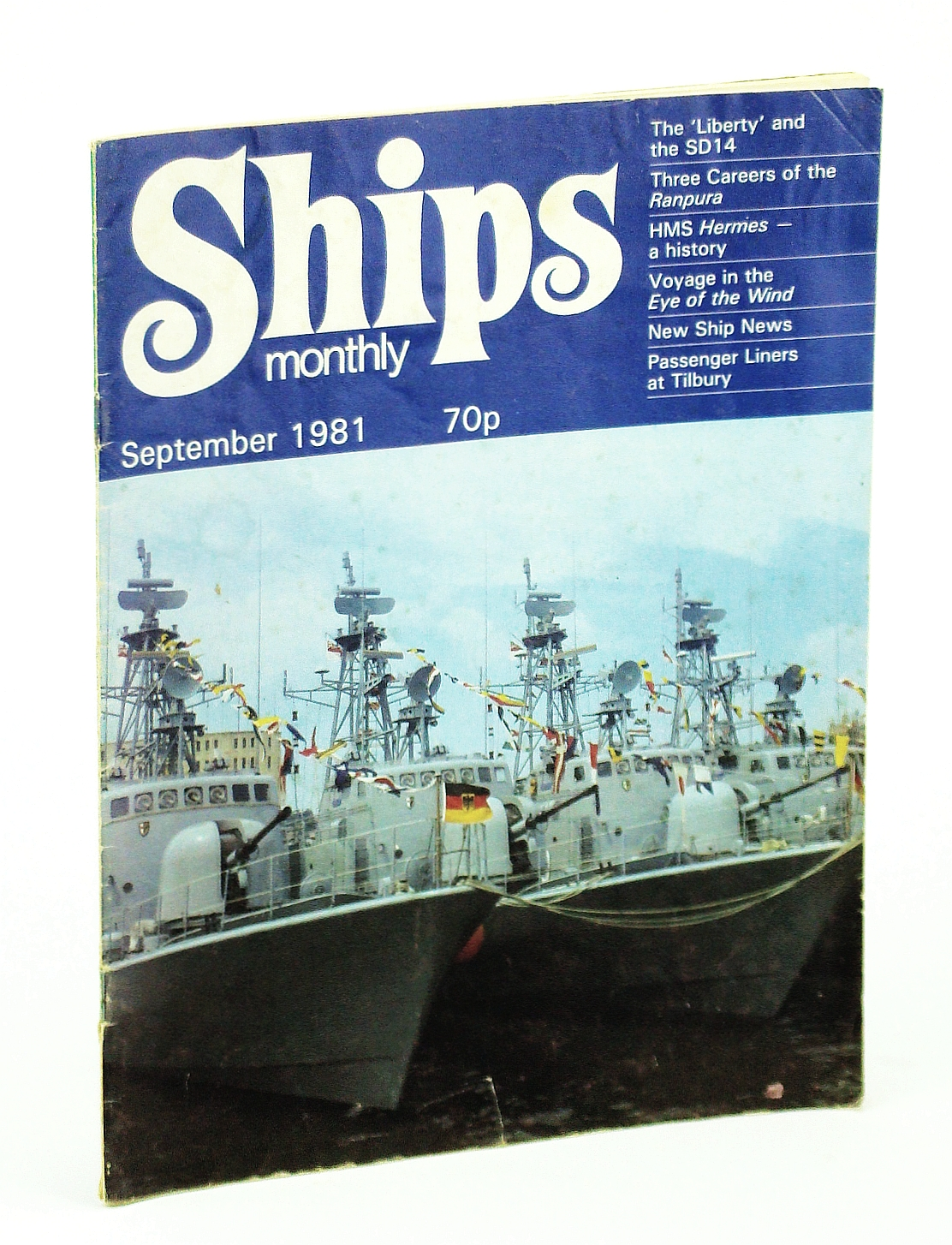 Image for Ships Monthly - The Magazine for Shiplovers Ashore and Afloat, September 1981 - HMS Hermes (Part 1)