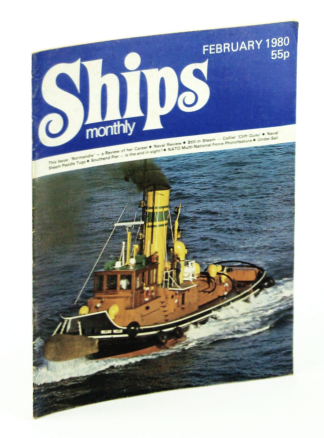 Image for Ships Monthly - The Magazine for Shiplovers Ashore and Afloat, February 1980 - 'Normandie'