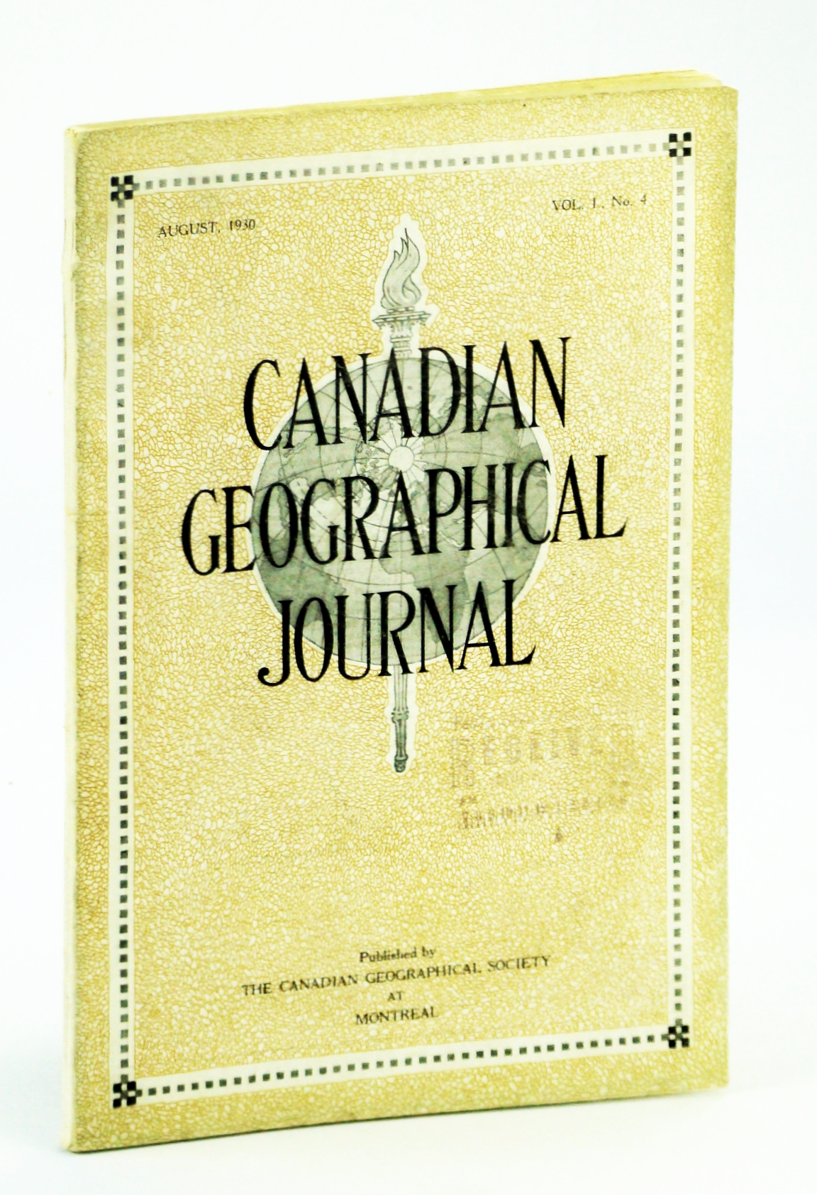Image for Canadian Geographical Journal, August [Aug.], 1930, Vol. 1, No. 4 - Air-mail Pilot's Log of Captain O.S. Bondurant, Captain H.S. Quigley, and Colonel R.H. Mulock / Norway House, Manitoba