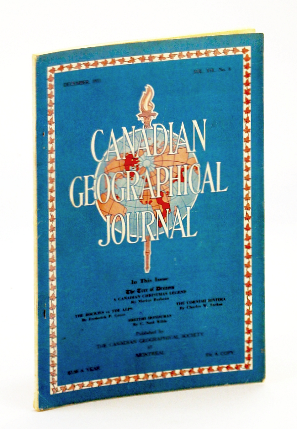Image for Canadian Geographical Journal, December [Dec.] 1933, Vol. II, No. 6 - British Honduras (Belize)