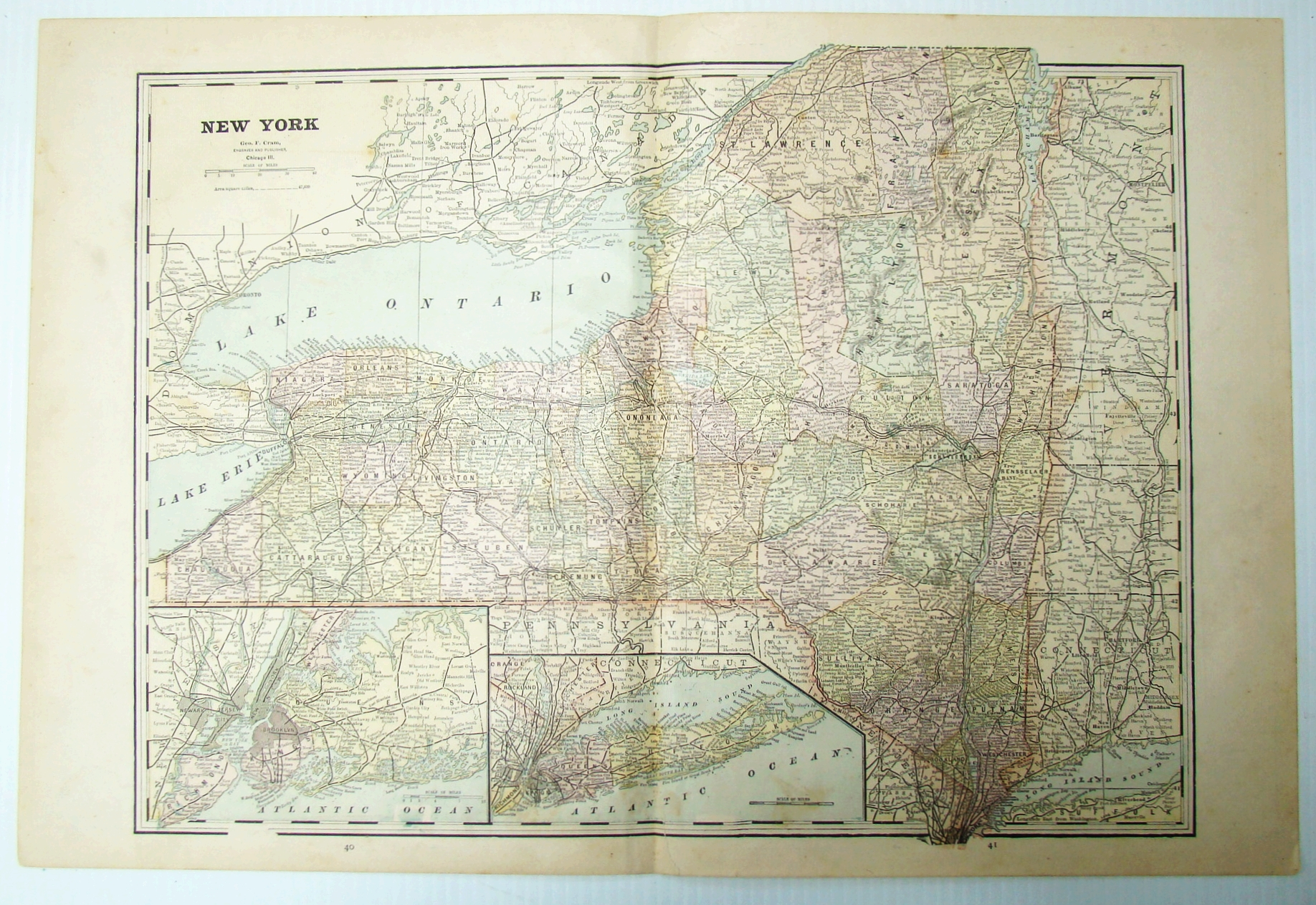 Image for 1899 Color Map of New York State
