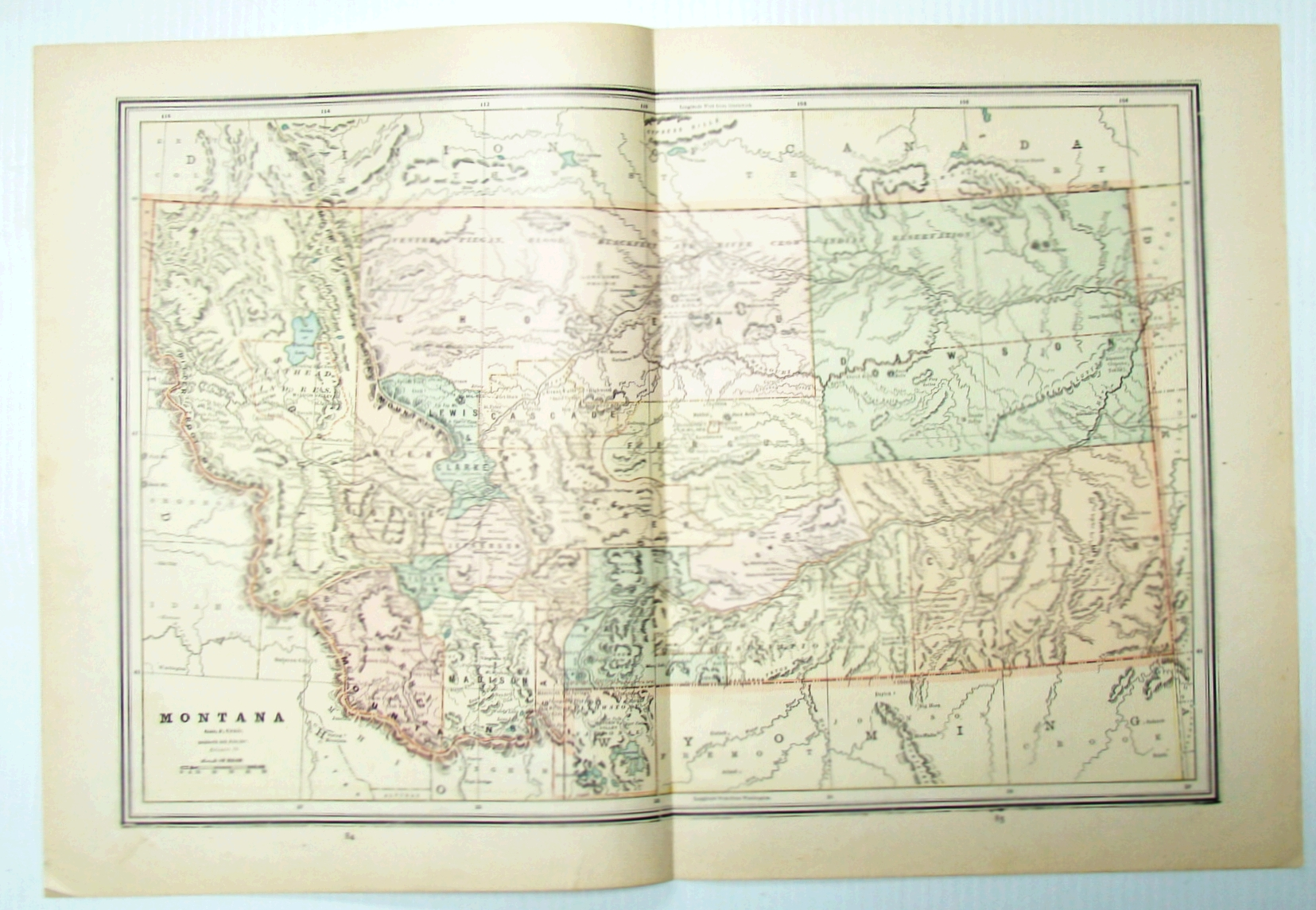 Image for 1889 Color Map of the State of Montana