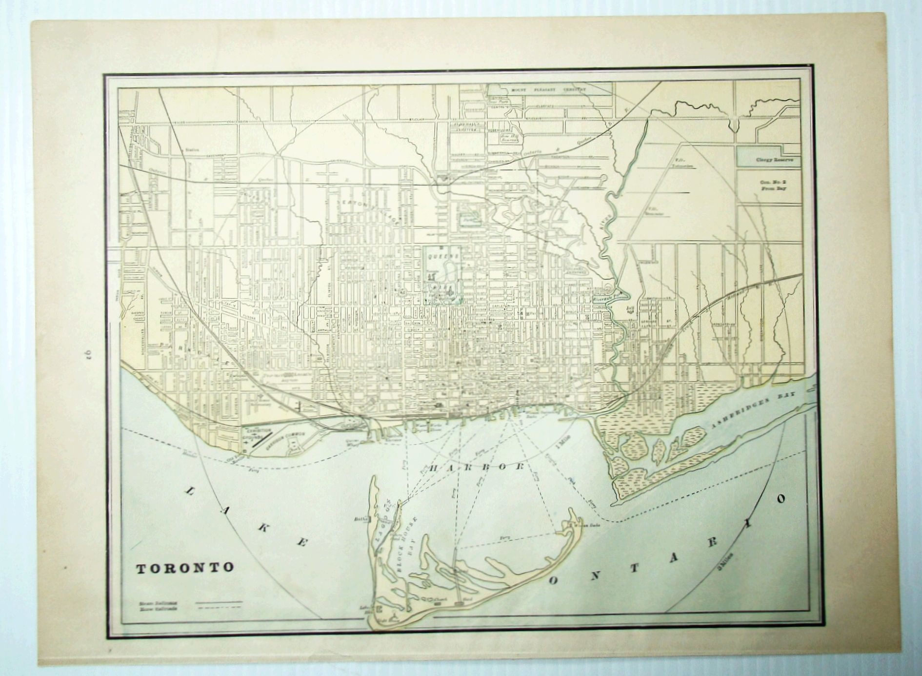 Image for 1889 Color Map of the City of Toronto, Ontario