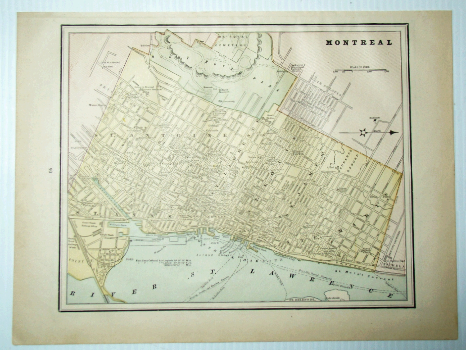 Image for 1889 Color Map of the City of Montreal, Quebec