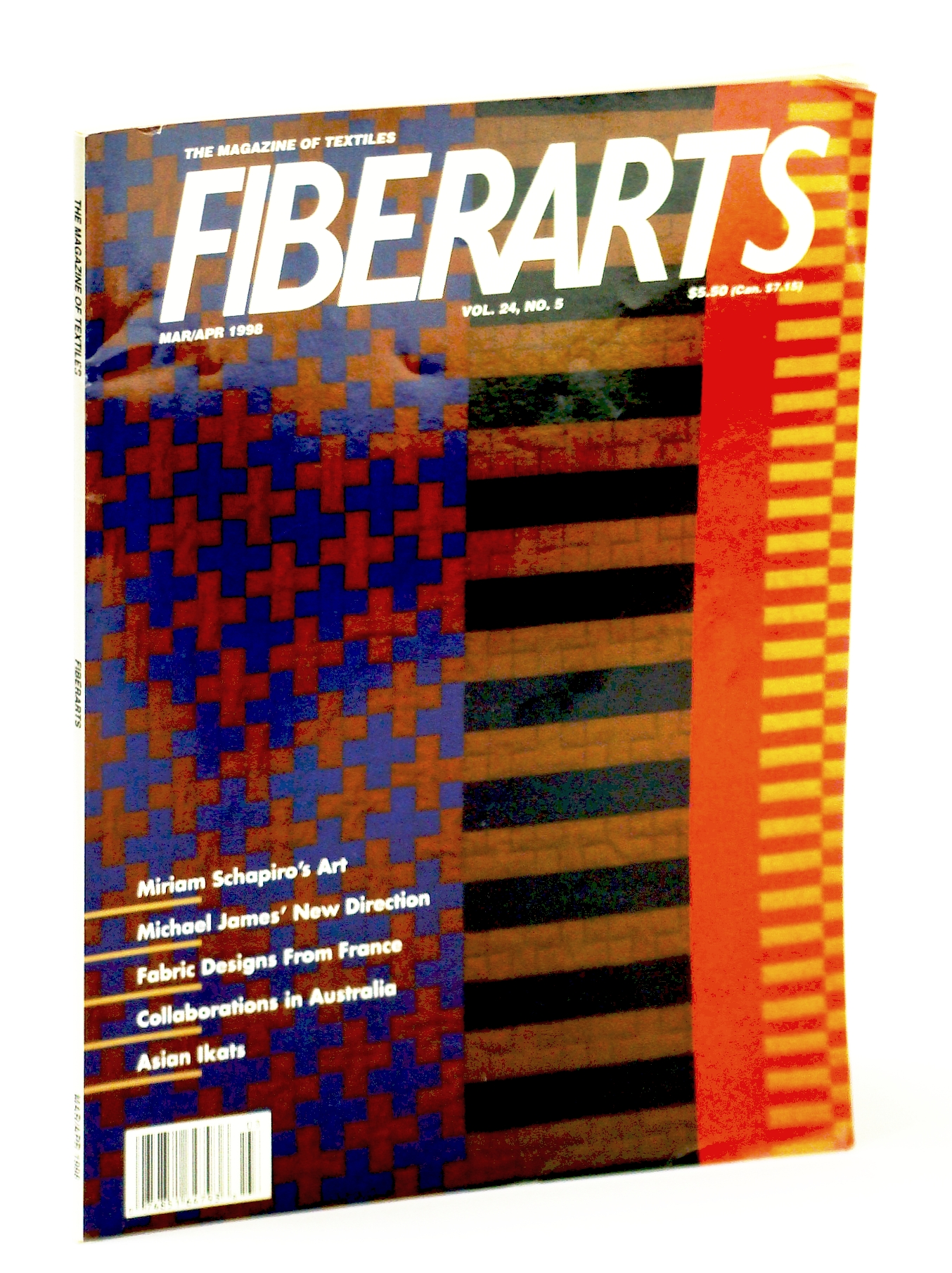 Image for Fiberarts, The Magazine of Textiles,  March / April (Mar. / Apr.) 1998: Miriam Schapiro / Michael James