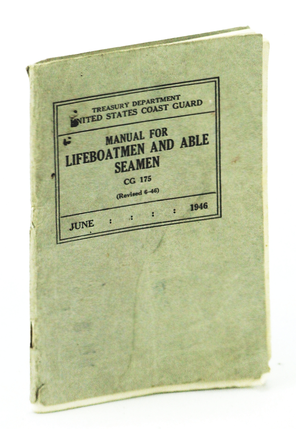 Image for Manual for Lifeboatmen and Able Seamen, CG 175 (Revised 6-46)