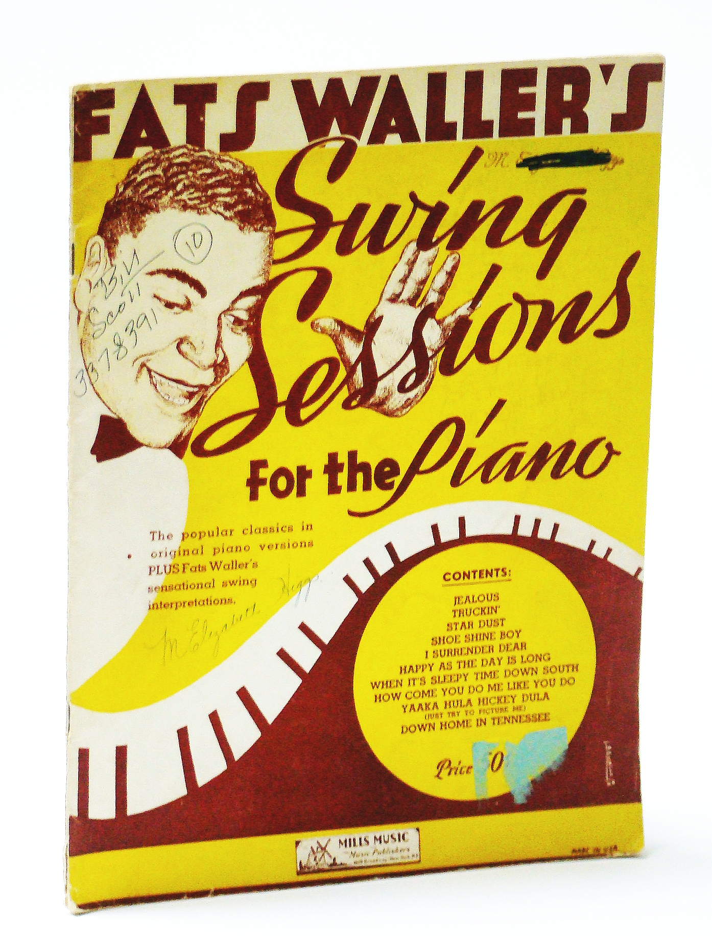 Image for Fats Waller's Swing Sessions for the Piano: Piano Sheet Music