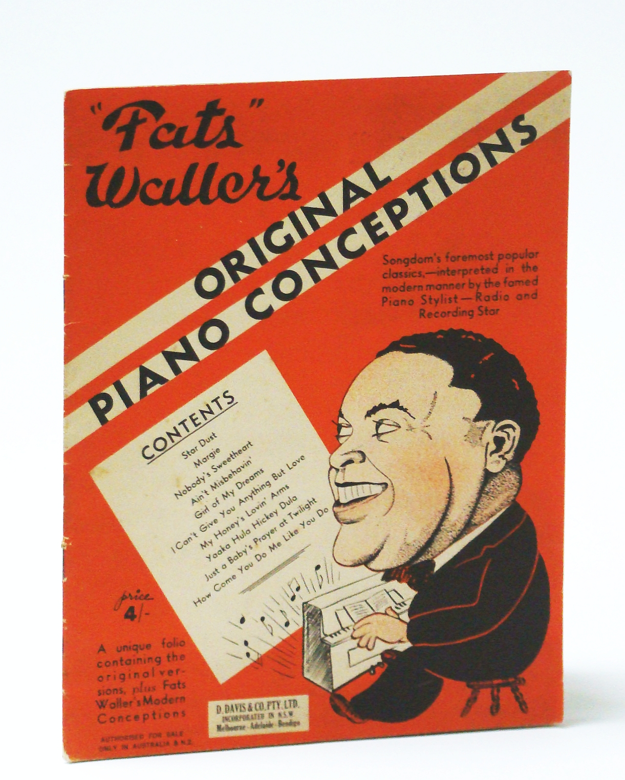 "Image for ""Fats"" Waller's Original Piano Conceptions: Piano Sheet Music"