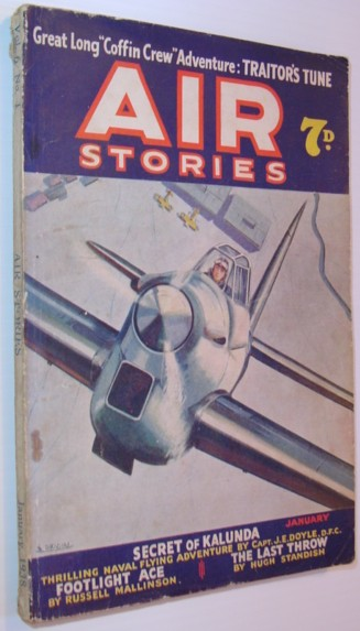 Image for Air Stories - Flying Thrills and Aerial Adventure: January 1938, Vol. 6, No. 1