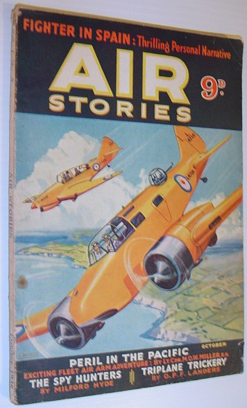 Image for Air Stories - Aerial Adventure in Fact and Fiction: October 1938, Vol. 7, No. 4