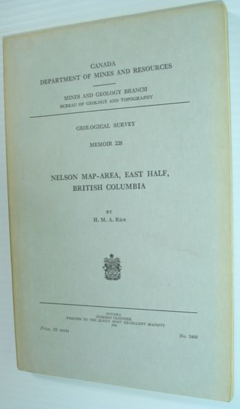 Image for Nelson Map-Area, East Half, British Columbia - Geological Survey Memoir 228