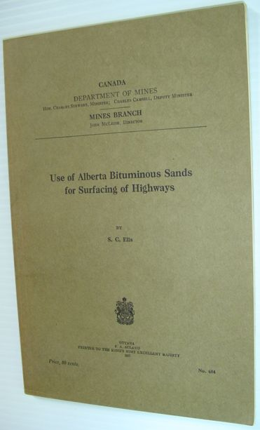 Image for Use of Alberta Bituminous Sands for Surfacing of Highways