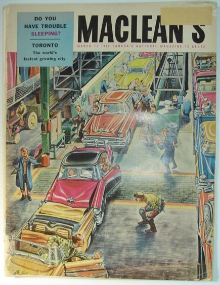 Maclean's Magazine, March 17, 1956, Allen, Ralph