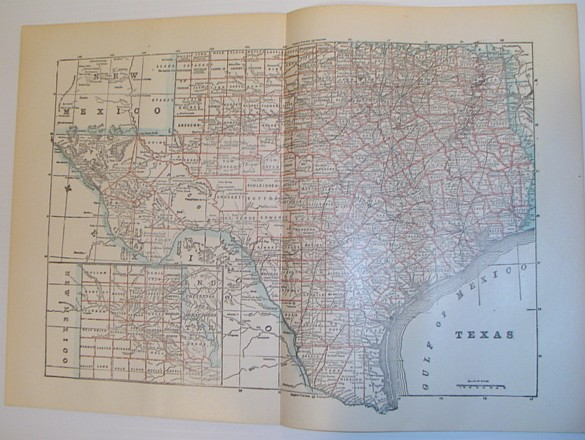 Image for Map of the State of Texas - Circa 1902