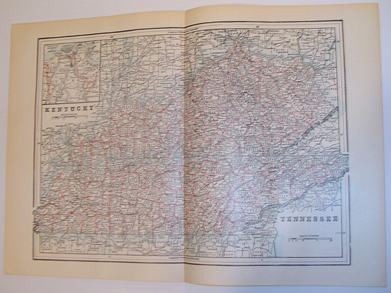 Image for Map of the States of Kentucky and Tennessee - Circa 1902