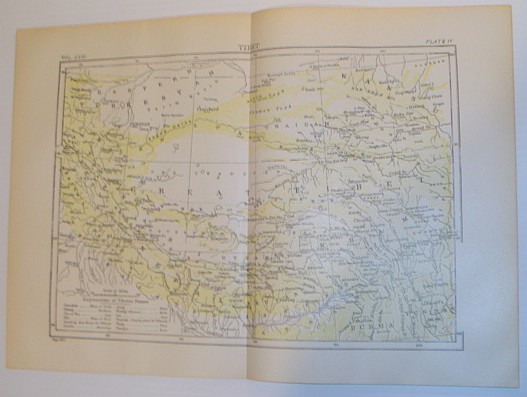 Image for Map of Tibet - Circa 1902