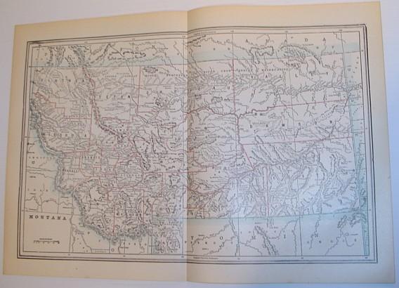 Image for Map of Montana - Circa 1902