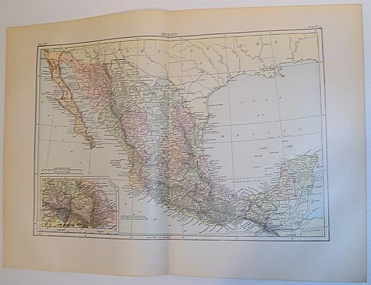 Image for Colour Map of Mexico - Circa 1902