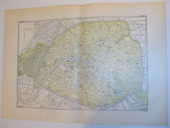 Image for Map of Paris, France - Circa 1902