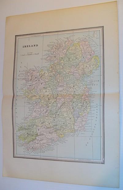 Image for Colour Map of Ireland - Circa 1902