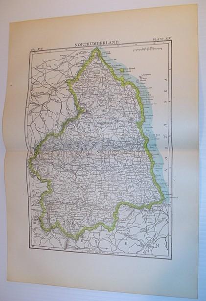 Image for Map of Northumberland, England - Circa 1902