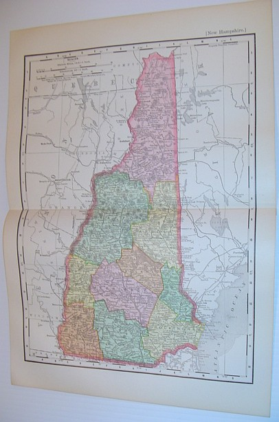 Image for Rand McNally & Co.'s 1901 Coloured Map of the State of New Hampshire