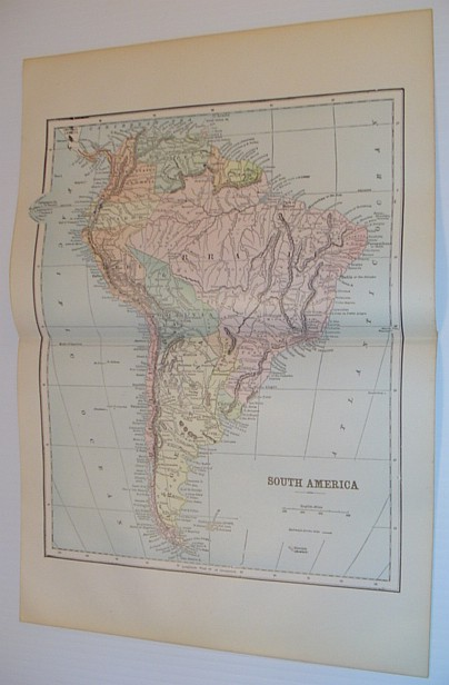 Image for Map of South America - Circa 1902