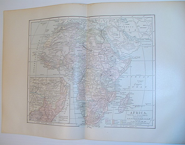 Image for Colour Map of the African Continent - Circa 1902