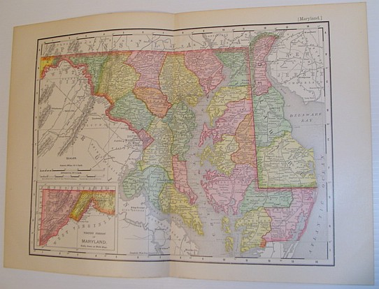 Image for Rand McNally & Co.'s 1901 Colour State Map of Maryland and Delaware