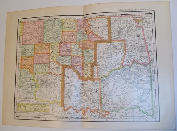 """Image for Rand, McNally & Co.'s 1901 Map of the """"Western Portion of Oklahoma""""/ Indian Territory and Oklahoma"""