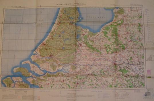 Image for British World War II Map of Walcheren-Amsterdam