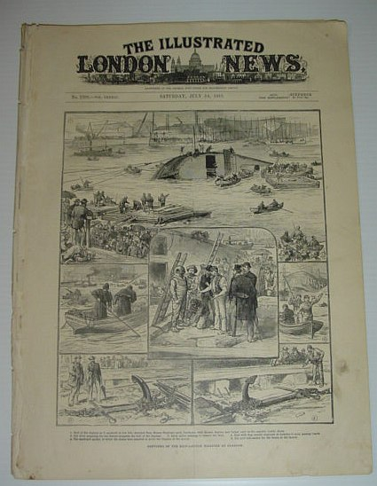 The Illustrated London News: July 14, 1883 *Daphne Ship-Launch Disaster at Glasgow*, Various Contributors