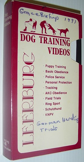 Image for Leeburg Dog Training VHS Video Tape in Case: Germany's Herding Dog Trials  - HGH