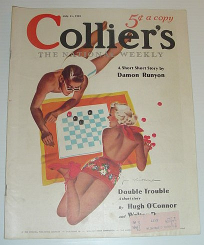 Colliers, The National Weekly Magazine: 11 July, 1936 *Includes 'Burge McCall' By Damon Runyan and a Winston Churchill Piece on John D. Rockefeller*, Churchill, Winston; et al