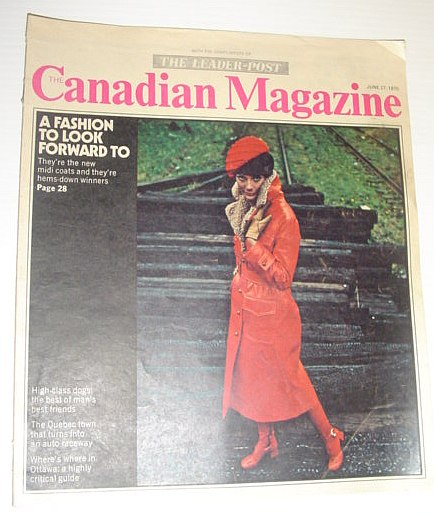 The Canadian Magazine, 27 June 1970 *COVER PHOTO OF A NEW MIDI COAT*, Multiple Contributors