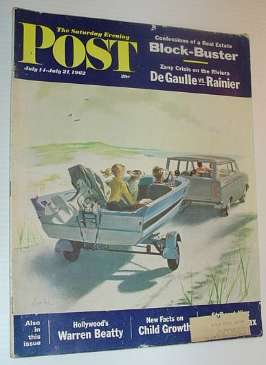 The Saturday Evening Post, July 14 - July 21, 1962 *DE GAULLE VS RAINIER / WARREN BEATTY / SANDY KOUFAX*, Multiple Contributors
