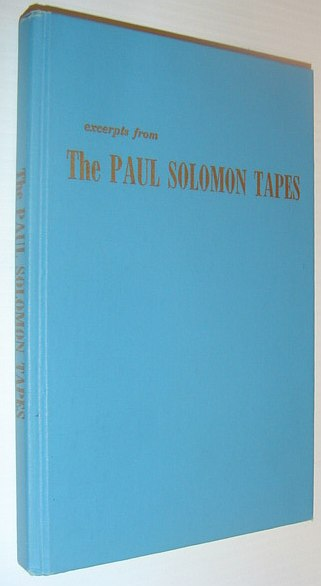 Image for Excerpts From the Paul Solomon Tapes