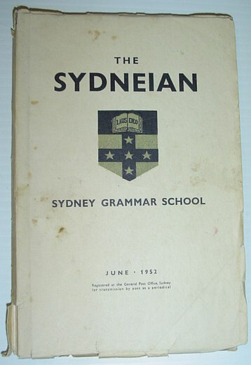 Image for The Sydneian, June 1952 - Sydney (Australia) Grammar School