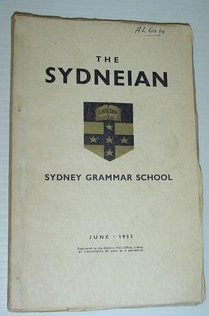 Image for The Sydneian, June 1953 - Sydney (Australia) Grammar School