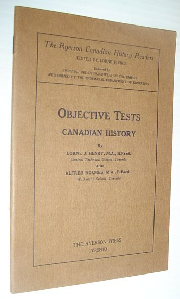 Image for Objective Tests - Canadian History